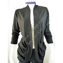 RNB008 เสื้อคลุมสตรีแขนยาว (มีกระเป๋า/ไม่มีกระดุม)   สั่งสีละ 1ตัวได้ สั่งซื้อแต่ครั้ง 10 ตัวขึ้นไป....(คละสีได้)... ++ยิ้งซื้อมากยิ่งได้ลดมาก++