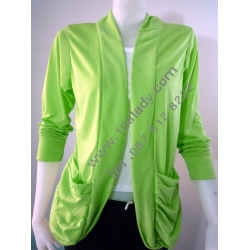 RNB019 เสื้อคลุมสตรีแขนยาว (มีกระเป๋า/ไม่มีกระดุม)   สั่งสีละ 1ตัวได้ สั่งซื้อแต่ครั้ง 10 ตัวขึ้นไป....(คละสีได้)... ++ยิ้งซื้อมากยิ่งได้ลดมาก++