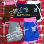 WSF100 กางเกงขาสั้นสตรีใส่สบาย(สีพื้น) เอวเชื่อกผูก สั่งซื้อครั้งละ 20ตัวขึ้นไป ทางร้านคละสีให้++ยิ่งซื้อมากยิ่งได้ลดมาก++